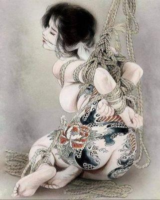 Cuadro del artista japonés Ozuma Kaname (1939-2011)