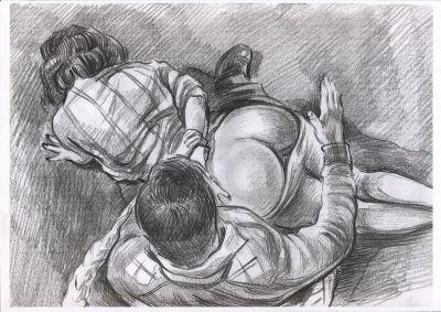 """Everything Daddy touches...""  - Art, lead, pencil, Gosha."